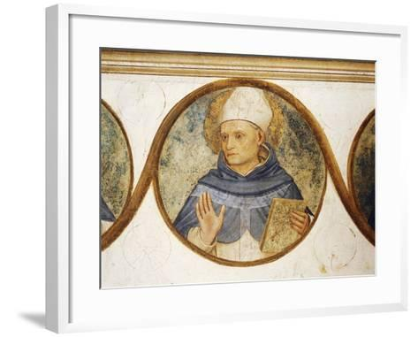 Dominican Order Genealogical Tree with Portrait of St. Albert, Detail from Crucifixion with Saints-Fra Angelico-Framed Art Print
