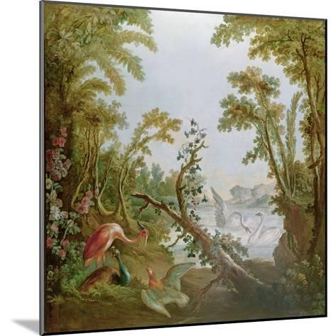 Lake with Swans, a Flamingo and Various Birds, from the Salon of Gilles Demarteau, C.1750-65-Francois Boucher-Mounted Giclee Print