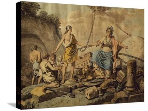 Ancient World Freeing New Free World, Circa 1780-Jean Jacques Francois Lebarbier-Stretched Canvas Print