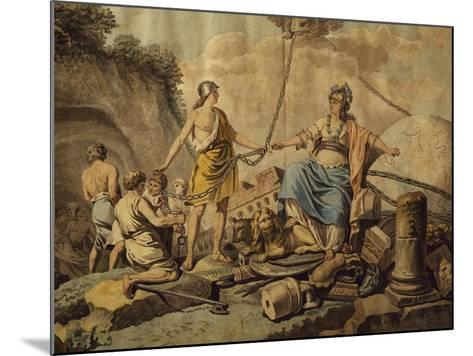 Ancient World Freeing New Free World, Circa 1780-Jean Jacques Francois Lebarbier-Mounted Giclee Print