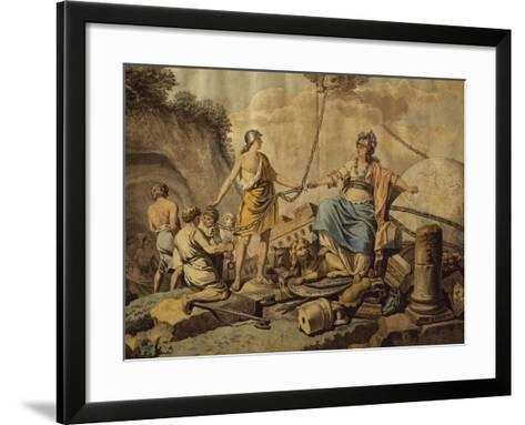Ancient World Freeing New Free World, Circa 1780-Jean Jacques Francois Lebarbier-Framed Art Print