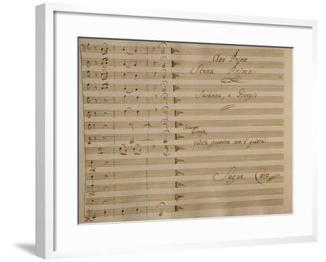Music Score of Nina, or Girl Driven Mad by Love, 1789-Giovanni Paisiello-Framed Art Print