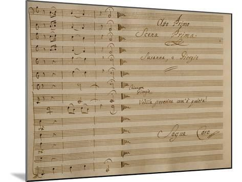 Music Score of Nina, or Girl Driven Mad by Love, 1789-Giovanni Paisiello-Mounted Giclee Print