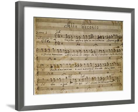 Autograph Music Score of the Second Act of the Opera the Chinese Idol, 1767-Giovanni Paisiello-Framed Art Print