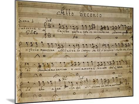 Autograph Music Score of the Second Act of the Opera the Chinese Idol, 1767-Giovanni Paisiello-Mounted Giclee Print