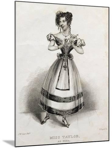 Portrait of Miss Taylor, Operatic Singer, as Nina, in Opera Nina, or Girl Driven Mad by Love, 1789-Giovanni Paisiello-Mounted Giclee Print