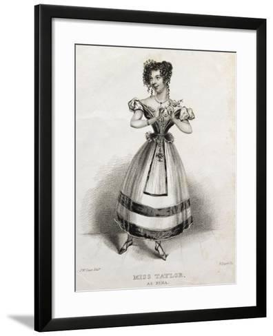 Portrait of Miss Taylor, Operatic Singer, as Nina, in Opera Nina, or Girl Driven Mad by Love, 1789-Giovanni Paisiello-Framed Art Print