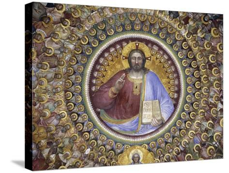 Christ Pantocrator, Virgin Mary, Angels and Elect, Detail from Paradise, 1375-1378-Giusto de' Menabuoi-Stretched Canvas Print