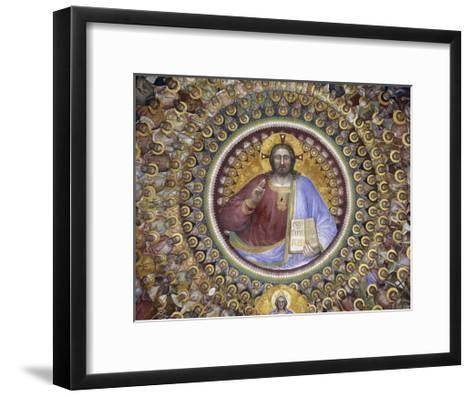 Christ Pantocrator, Virgin Mary, Angels and Elect, Detail from Paradise, 1375-1378-Giusto de' Menabuoi-Framed Art Print