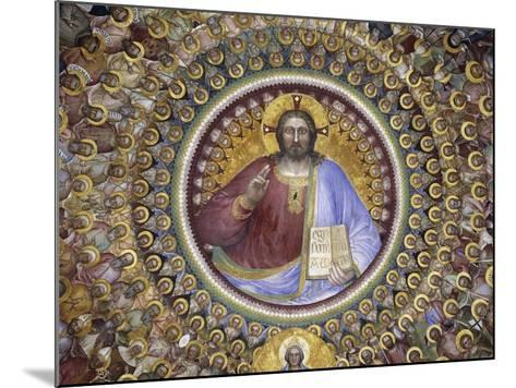 Christ Pantocrator, Virgin Mary, Angels and Elect, Detail from Paradise, 1375-1378-Giusto de' Menabuoi-Mounted Giclee Print
