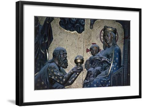 Adoration of the Magi, Bas-Relief on the Choir with Stories from the Life of Christ-Jean Ravy-Framed Art Print