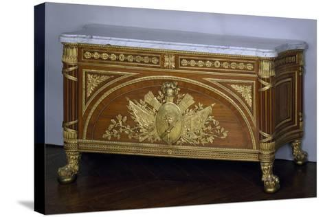 Madagascar Rosewood and Amaranth Commode with Gilt Bronze and White Marble Top, 1786-1787-Guillaume Benneman-Stretched Canvas Print