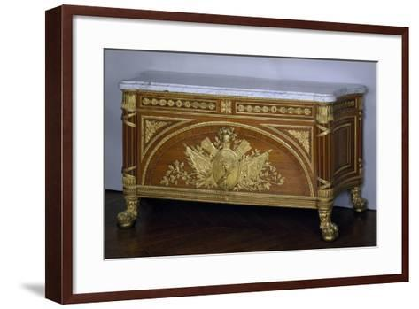 Madagascar Rosewood and Amaranth Commode with Gilt Bronze and White Marble Top, 1786-1787-Guillaume Benneman-Framed Art Print