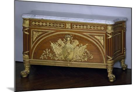 Madagascar Rosewood and Amaranth Commode with Gilt Bronze and White Marble Top, 1786-1787-Guillaume Benneman-Mounted Giclee Print