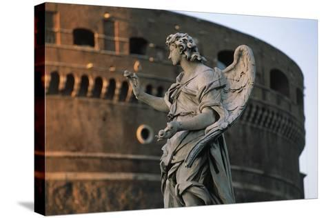Italy, Lazio, Rome, Ponte Sant'Angelo, Statue of Angel Holding Nails, 1669-Girolamo Lucenti-Stretched Canvas Print