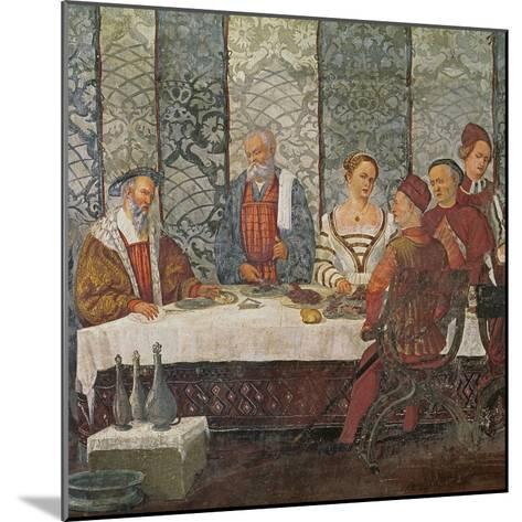 Banquet Given by Bartolomeo Colleoni for King Christian I of Denmark, 1520-30-Girolamo Romanino-Mounted Giclee Print