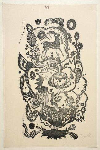 Design Motif for Wallpaper-Gustav Tejcka-Stretched Canvas Print