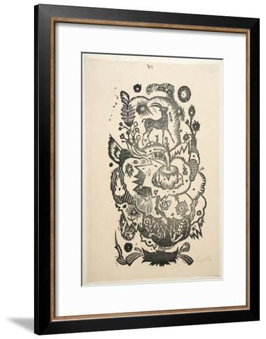 Design Motif for Wallpaper-Gustav Tejcka-Framed Art Print