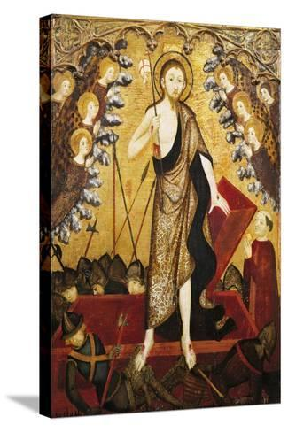 Resurrection of Christ, Panel from Altarpiece of Holy Sepulchre, 1381-1382-Jaime Serra-Stretched Canvas Print
