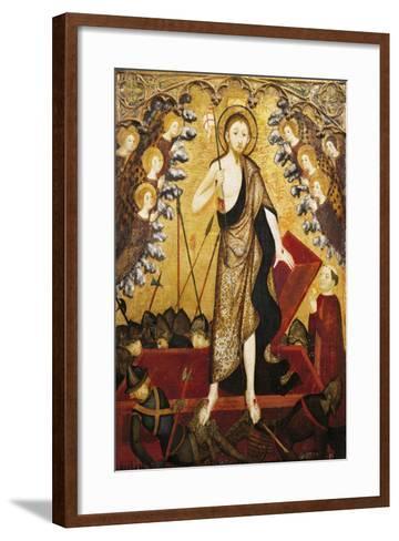 Resurrection of Christ, Panel from Altarpiece of Holy Sepulchre, 1381-1382-Jaime Serra-Framed Art Print