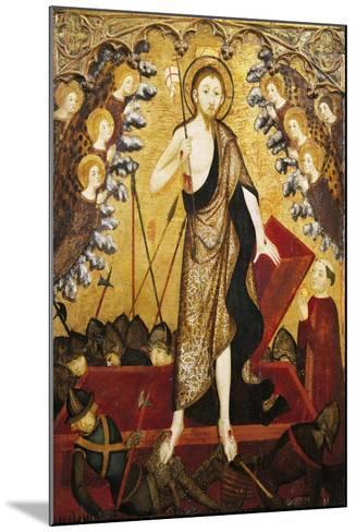 Resurrection of Christ, Panel from Altarpiece of Holy Sepulchre, 1381-1382-Jaime Serra-Mounted Giclee Print