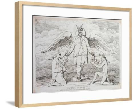 Crumbs of Comfort-James Gillray-Framed Art Print