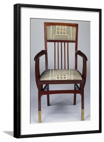 Art Nouveau Style Armchair, Part of Set Designed for Hall-Gustave Serrurier-Bovy-Framed Art Print