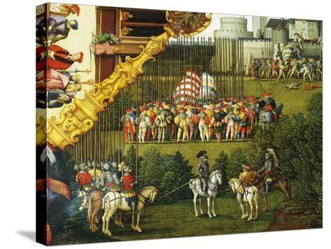 Army Preparing to Attack, Detail from Story of David, 1534-Hans Sebald Beham-Stretched Canvas Print