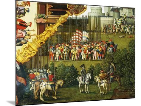 Army Preparing to Attack, Detail from Story of David, 1534-Hans Sebald Beham-Mounted Giclee Print