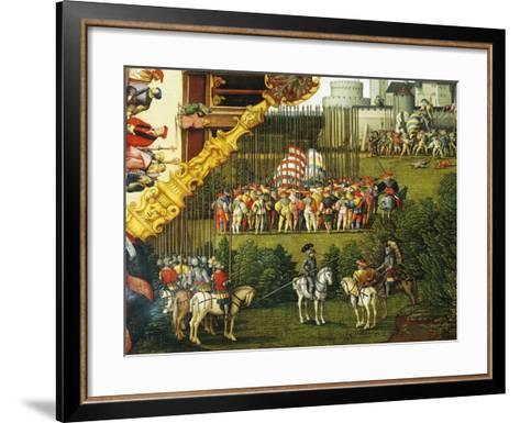 Army Preparing to Attack, Detail from Story of David, 1534-Hans Sebald Beham-Framed Art Print