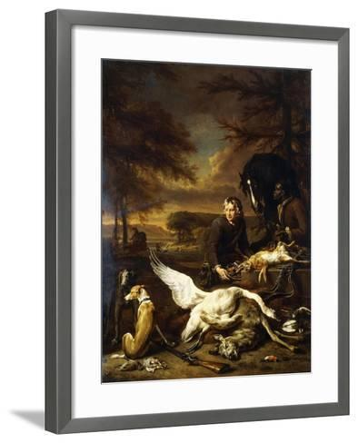 The Spoils of a Hunt with a Hunt Servant and a Black Page Holding a Bay, 1700-Jan Weenix-Framed Art Print