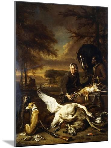 The Spoils of a Hunt with a Hunt Servant and a Black Page Holding a Bay, 1700-Jan Weenix-Mounted Giclee Print