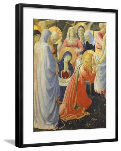 Mary Magdalene and Madonna, Detail from Deposition from Cross or Altarpiece of Holy Trinity-Giovanni Da Fiesole-Framed Art Print