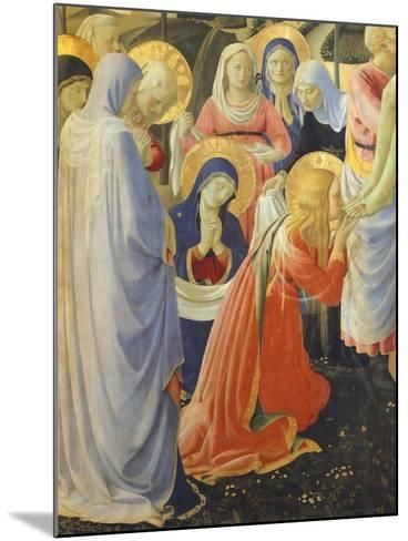 Mary Magdalene and Madonna, Detail from Deposition from Cross or Altarpiece of Holy Trinity-Giovanni Da Fiesole-Mounted Giclee Print