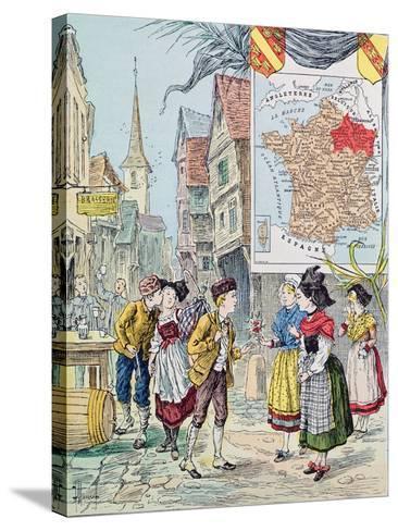 Alsace-Lorraine, Illustration for 'Le Tour De France' by Marie De Grandmaison, 1893-J. Maurel-Stretched Canvas Print