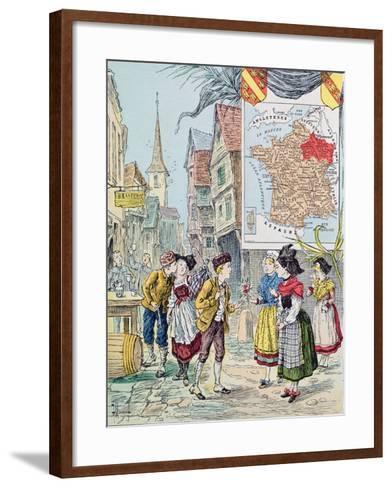 Alsace-Lorraine, Illustration for 'Le Tour De France' by Marie De Grandmaison, 1893-J. Maurel-Framed Art Print