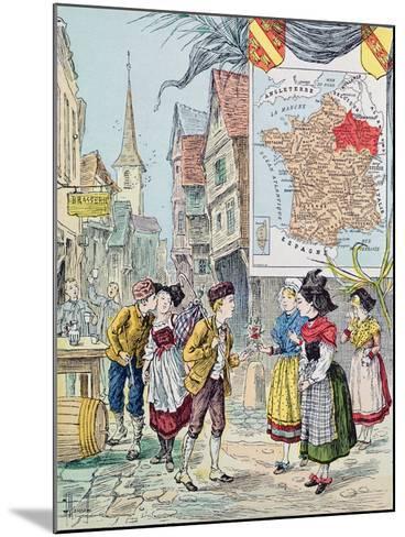 Alsace-Lorraine, Illustration for 'Le Tour De France' by Marie De Grandmaison, 1893-J. Maurel-Mounted Giclee Print