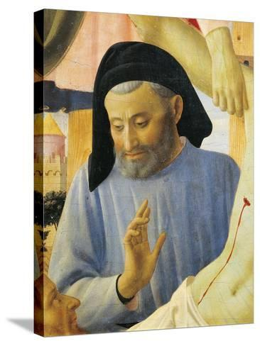 Architect Michelozzo, Detail from Deposition from Cross or Altarpiece of Holy Trinity, Circa 1432-Giovanni Da Fiesole-Stretched Canvas Print