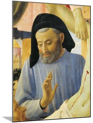 Architect Michelozzo, Detail from Deposition from Cross or Altarpiece of Holy Trinity, Circa 1432-Giovanni Da Fiesole-Mounted Giclee Print