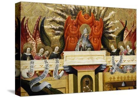 God the Father Surrounded by Angels, Altarpiece from Verdu, 1432-34-Jaume Ferrer II-Stretched Canvas Print