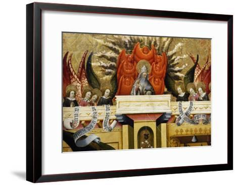 God the Father Surrounded by Angels, Altarpiece from Verdu, 1432-34-Jaume Ferrer II-Framed Art Print