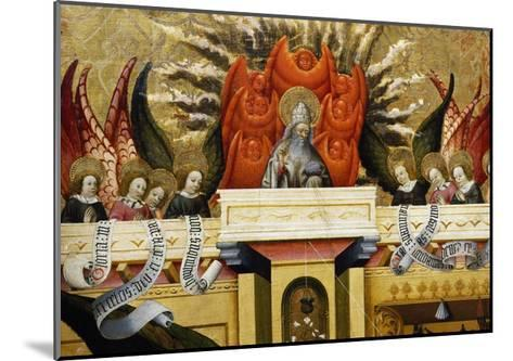 God the Father Surrounded by Angels, Altarpiece from Verdu, 1432-34-Jaume Ferrer II-Mounted Giclee Print