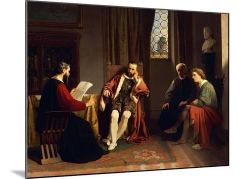 Benedetto Varchi Reading His 'Storia Fiorentina' to Cosimo I-Giuseppe Ciaranfi-Mounted Giclee Print