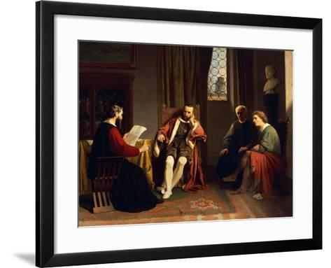 Benedetto Varchi Reading His 'Storia Fiorentina' to Cosimo I-Giuseppe Ciaranfi-Framed Art Print