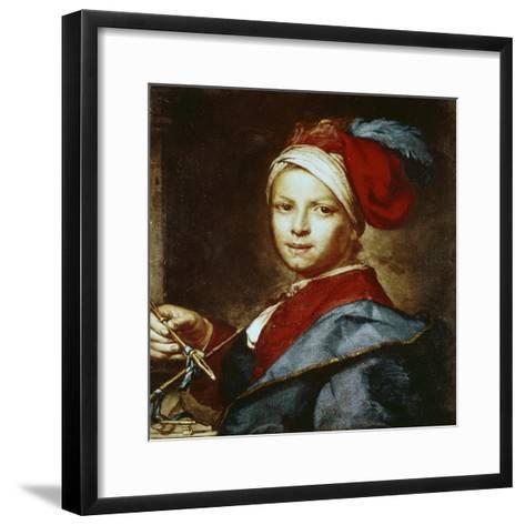 Portrait of a Young Man as a Painter-Giuseppe Ghislandi-Framed Art Print