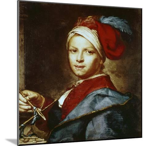 Portrait of a Young Man as a Painter-Giuseppe Ghislandi-Mounted Giclee Print