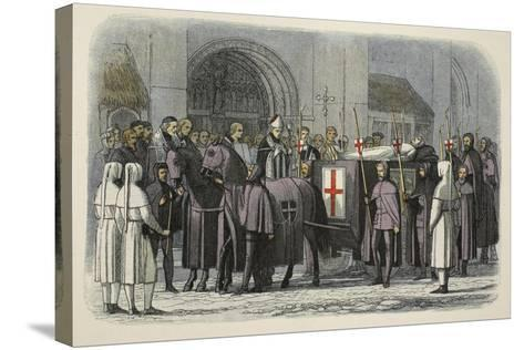 The Body of Richard II Brought to St Paul's Cathedral-James William Edmund Doyle-Stretched Canvas Print