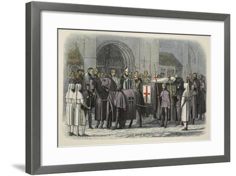 The Body of Richard II Brought to St Paul's Cathedral-James William Edmund Doyle-Framed Art Print