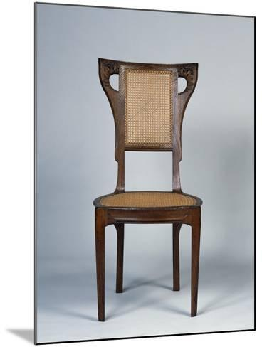 Art Nouveau Style Dining Room Chair, 1905-1908-Henri Bellery-desfontaines-Mounted Giclee Print