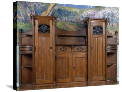 Art Nouveau Style Welsh Dresser, Part of Dining Room Set, 1905-1908-Henri Bellery-desfontaines-Stretched Canvas Print